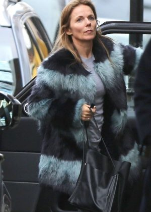 Geri Halliwell out and about in South London