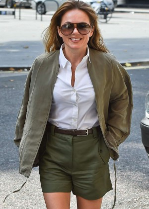 Geri Halliwell in Shorts out in London