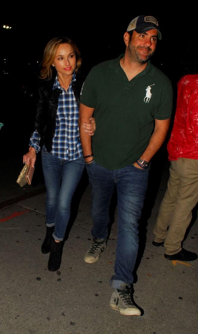 Giada De Laurentiis and boyfriend at the Bruce Springsteen Concert in LA
