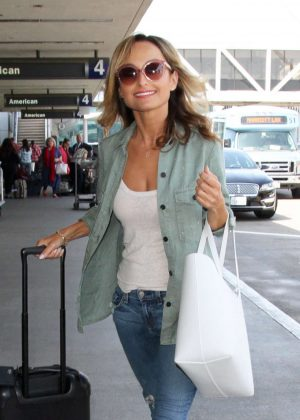 Giada De Laurentiis at LAX airport in Los Angeles