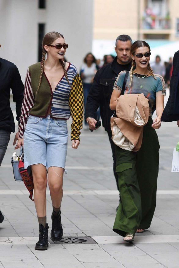 Gigi and Bella Hadid - 2019 Milan Fashion Week