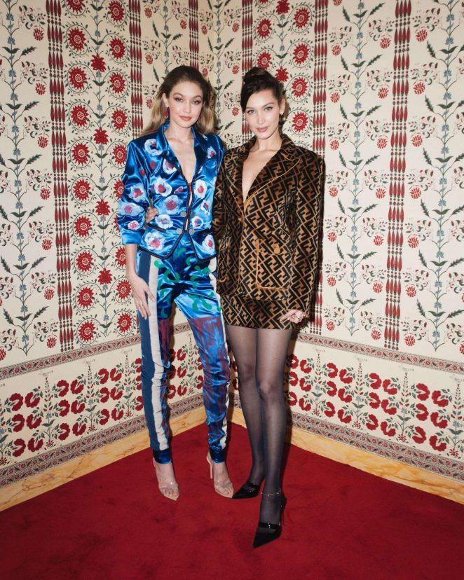 Gigi and Bella Hadid - CFDA x Vogue Fashion Fund 'Americans in Paris' Event in Paris