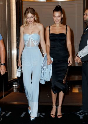 Gigi and Bella Hadid - Head out to celebrate Bella's 21st birthday in NYC