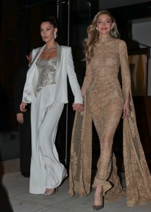 Gigi and Bella Hadid - Heads to Glamour Women of the Year event in NYC