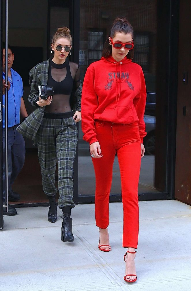 Gigi and Bella Hadid - Out and about in NYC