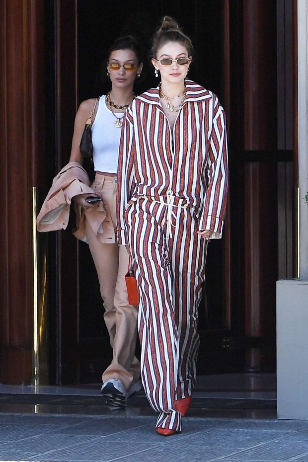 Gigi and Bella Hadid: Out in Florence-27