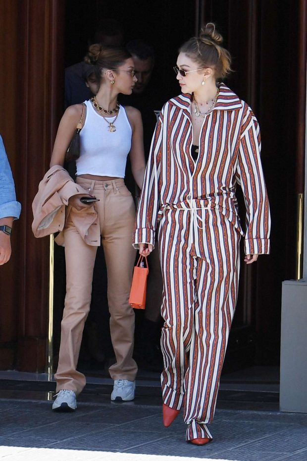 Gigi and Bella Hadid: Out in Florence-32