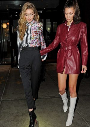 Gigi and Bella Hadid out in New York