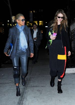 Gigi and Yolanda Hadid at BondST Restaurant in NYC