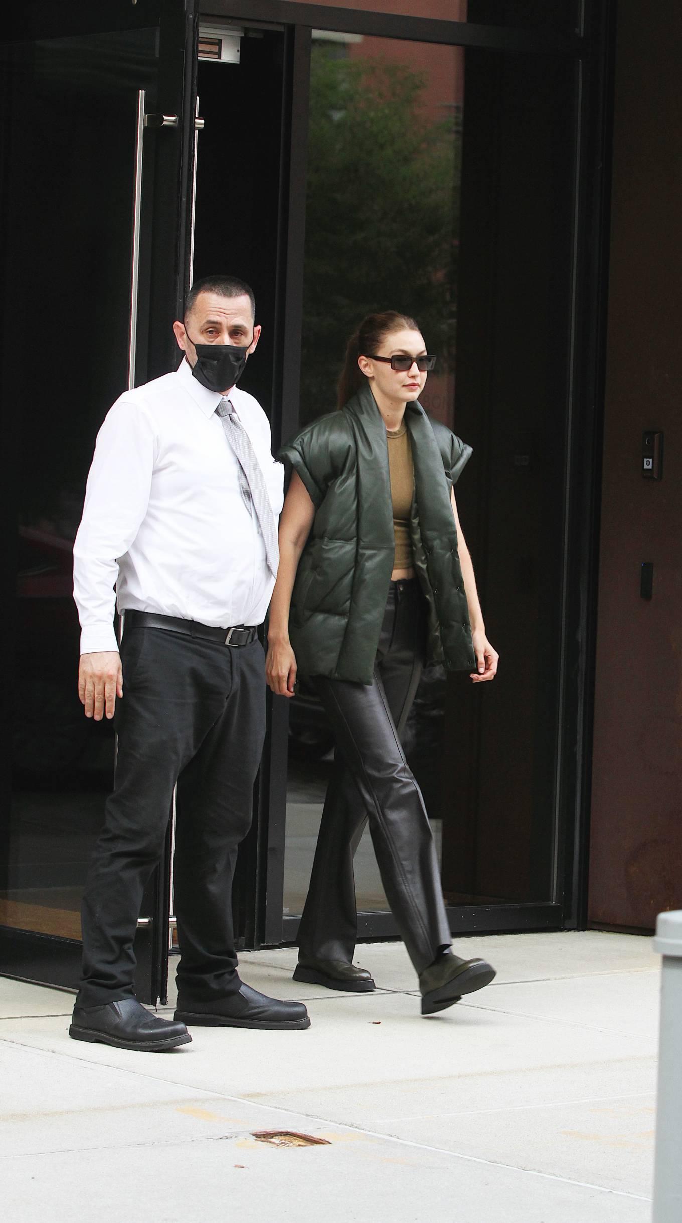 Gigi Hadad 2021 : Gigi Hadad – Seen Leaving her apartment in New York-05
