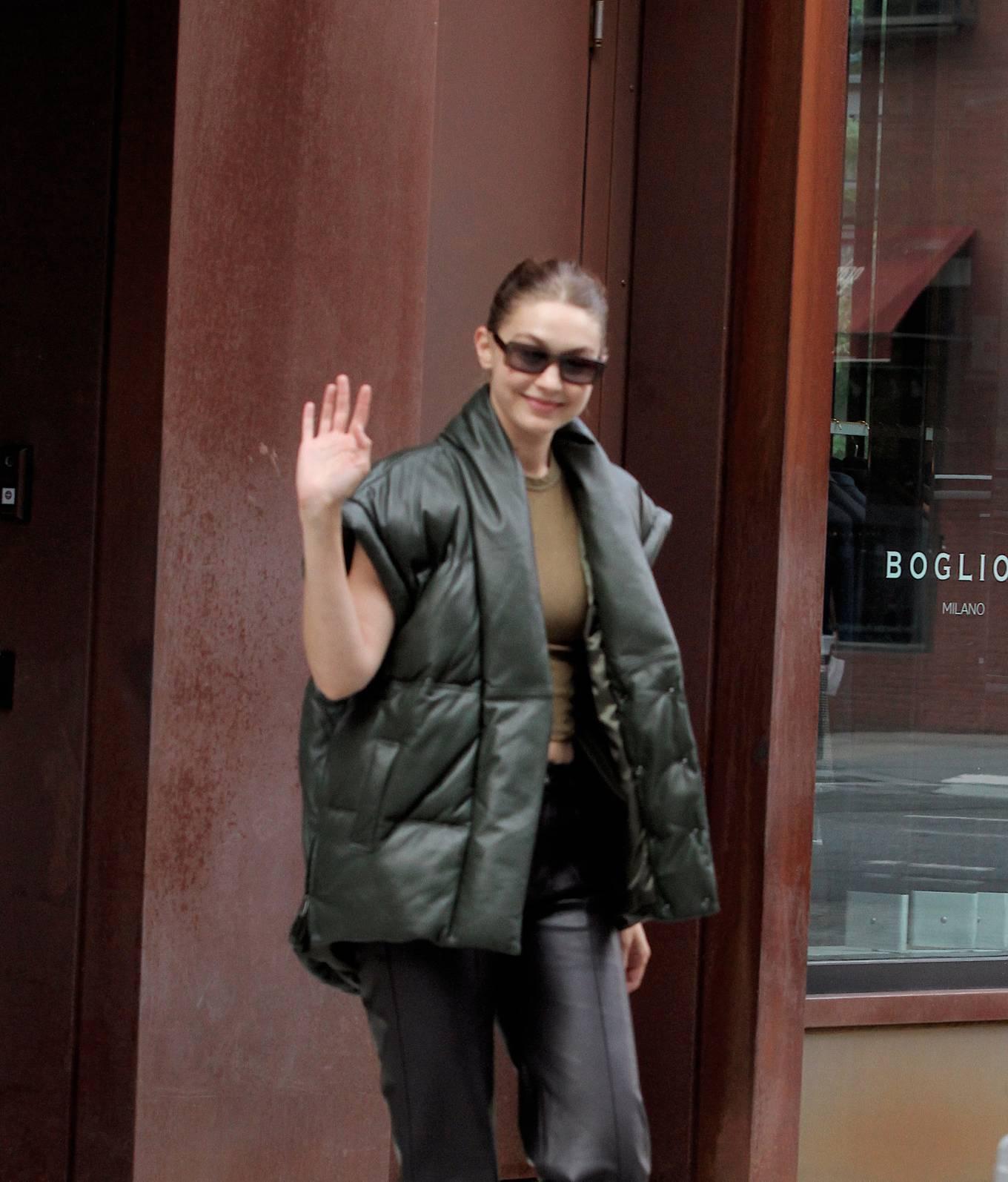 Gigi Hadad 2021 : Gigi Hadad – Seen Leaving her apartment in New York-09