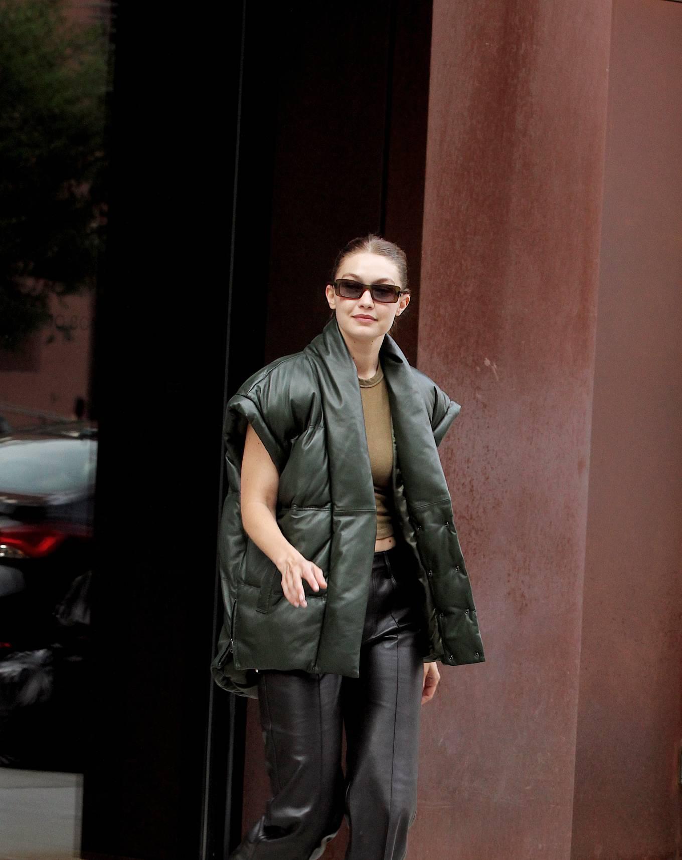 Gigi Hadad 2021 : Gigi Hadad – Seen Leaving her apartment in New York-10