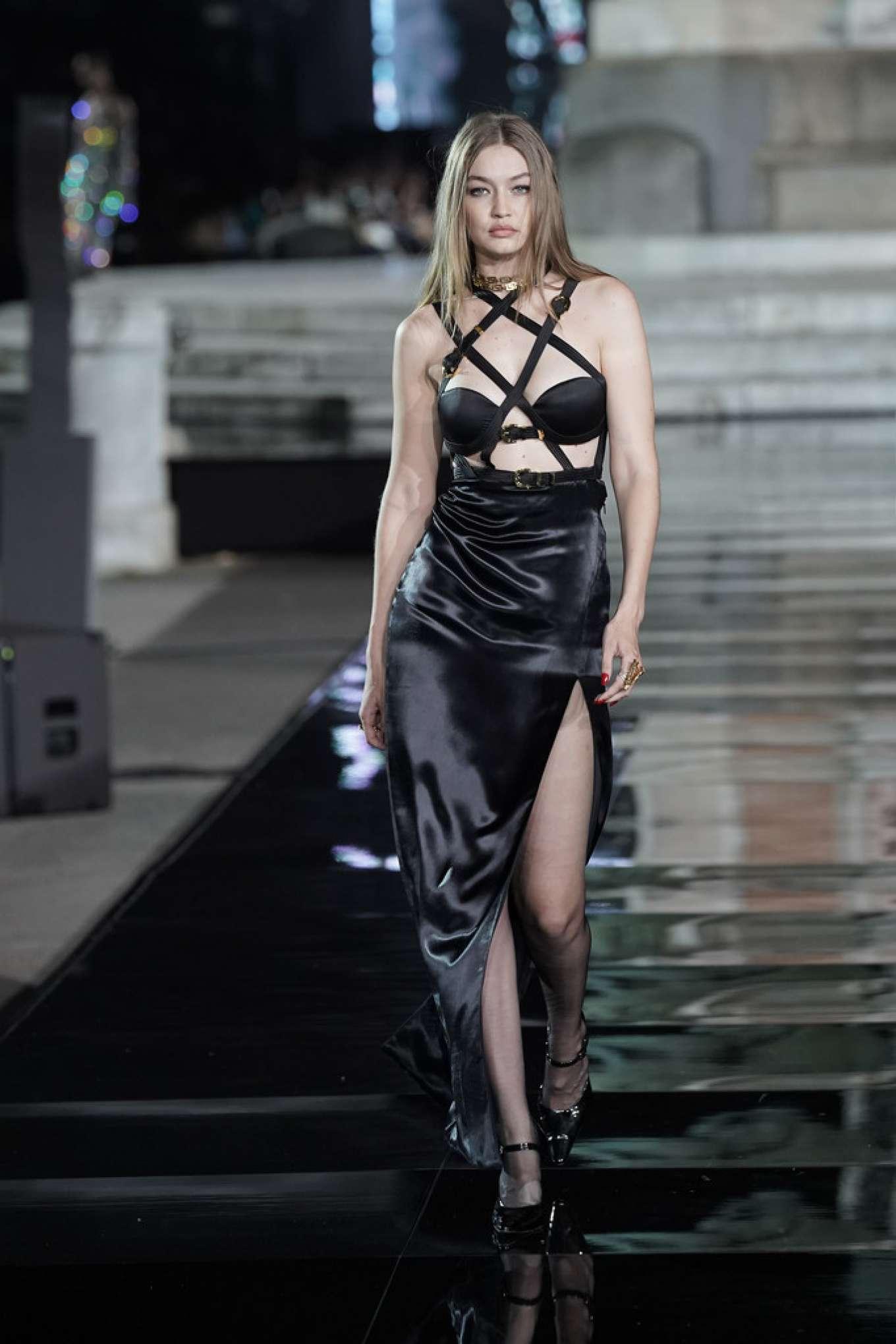 Gigi Hadid - 2019 CR runway x LUISAVIAROMA Show in Florence