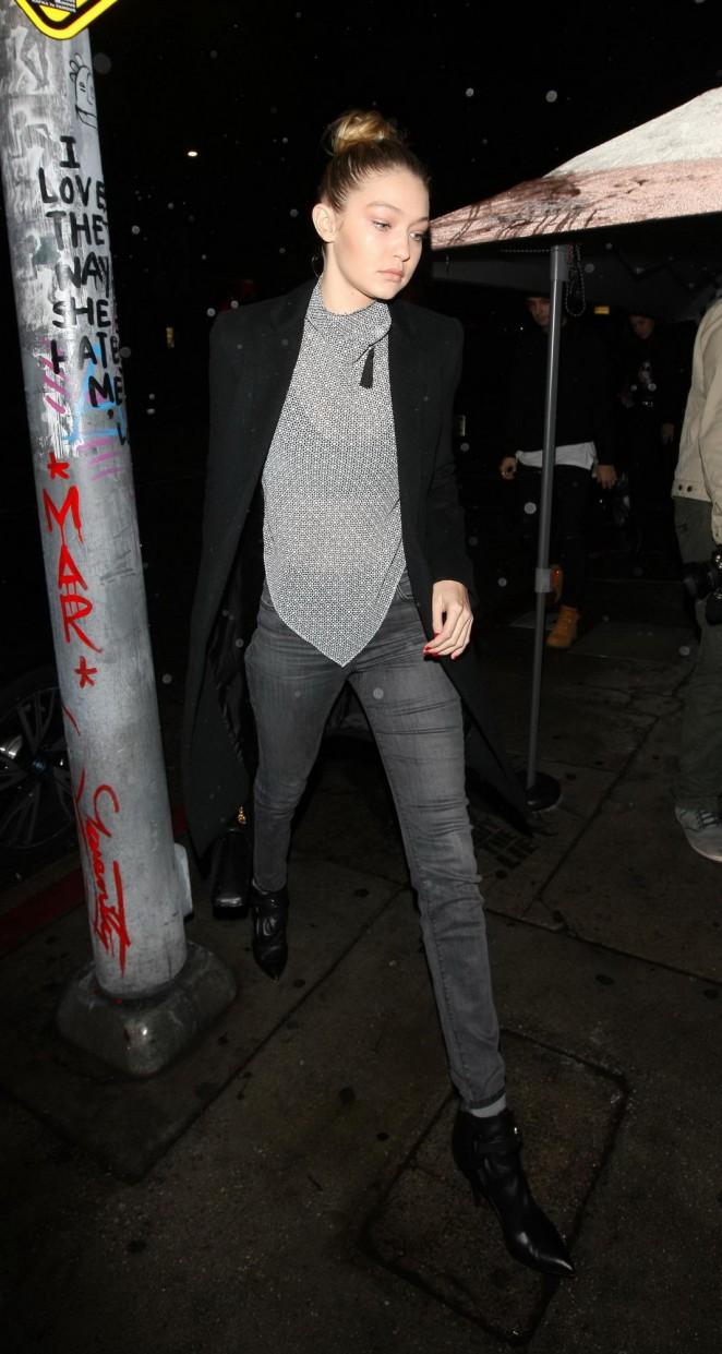 Gigi Hadid and Bella Hadid - Seen at The Nice Guy in West Hollywood