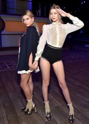 Gigi Hadid and Hailey Baldwin - Tommy Hilfiger 2016 Fashion Show in NYC