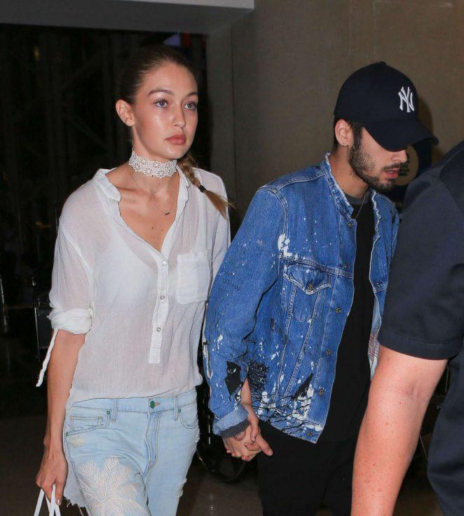 Gigi Hadid and Zayn Malik Arrives at LAX in Los Angeles