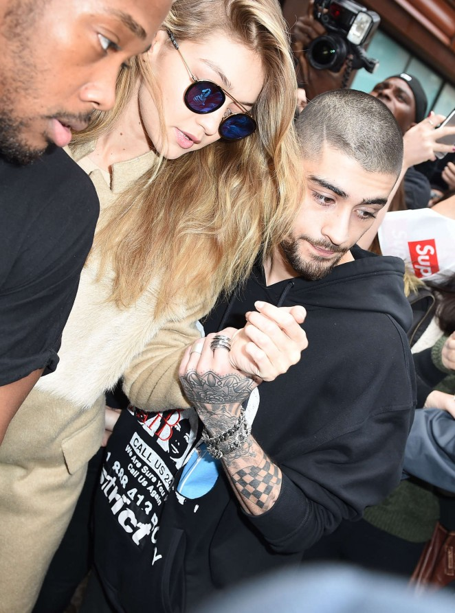 Gigi Hadid and Zayn Malik Leaving Gigi's apartment in NY