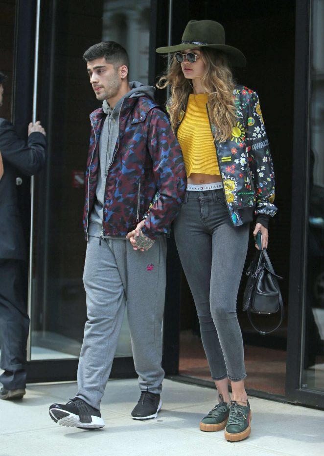 Gigi Hadid and Zayn Malik - Leaving Gigi's Apartment in NYC