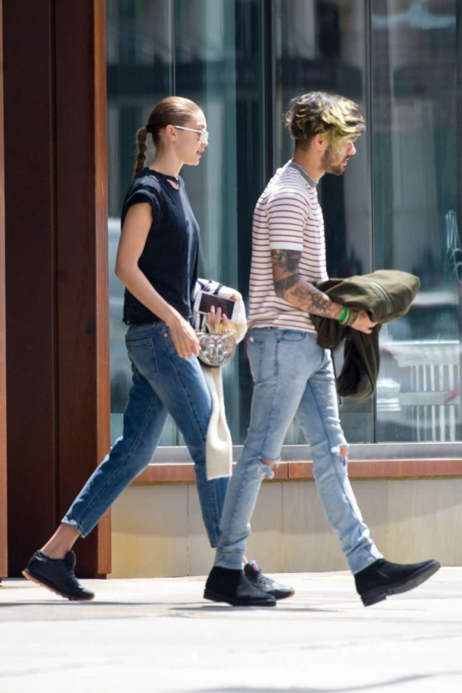 Gigi Hadid and Zayn Malik out in NYC