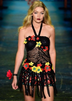 Gigi Hadid - Anna Sui Fashion Show Spring 2016 NYFW in NYC