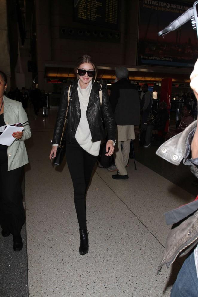 Gigi Hadid: Arrives at LAX Airport -02
