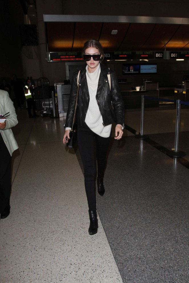 Gigi Hadid: Arrives at LAX Airport -09