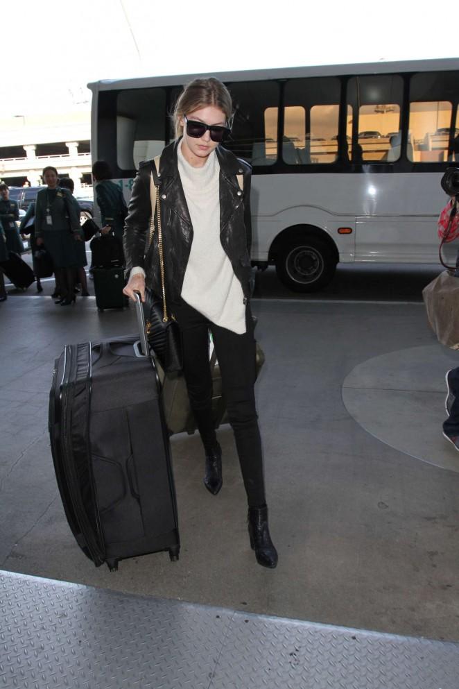 Gigi Hadid: Arrives at LAX Airport -12