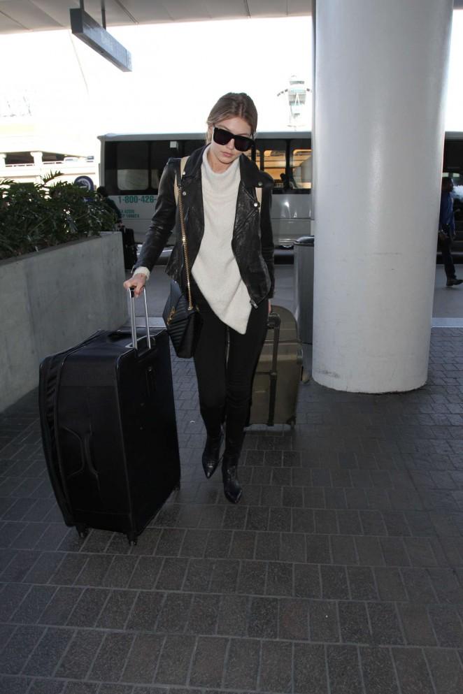 Gigi Hadid: Arrives at LAX Airport -13