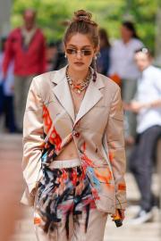 Gigi Hadid - Arrives at the Heron Preston Menswear SS 2020 in Paris