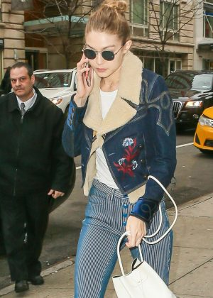 Gigi Hadid - Arriving at a studio in Manhattan