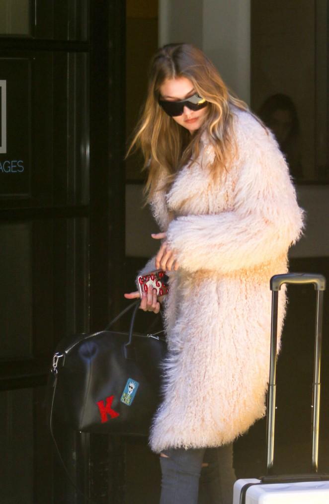 Gigi Hadid - Arriving at Milk Studios in New York