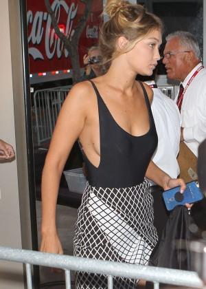 Gigi Hadid - Arriving at the Taylor Swift concert in LA