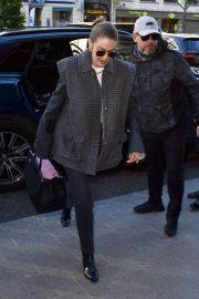 Gigi Hadid - Arriving for Fashion Week in Paris