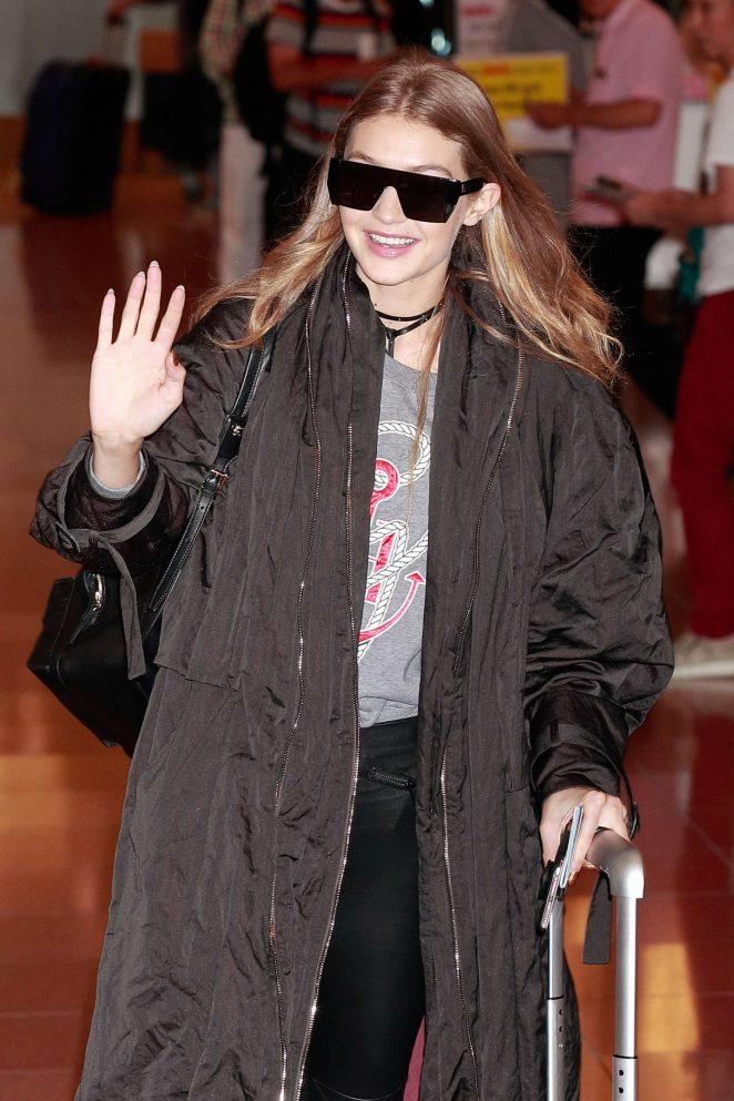 Gigi Hadid - Arriving in Tokyo