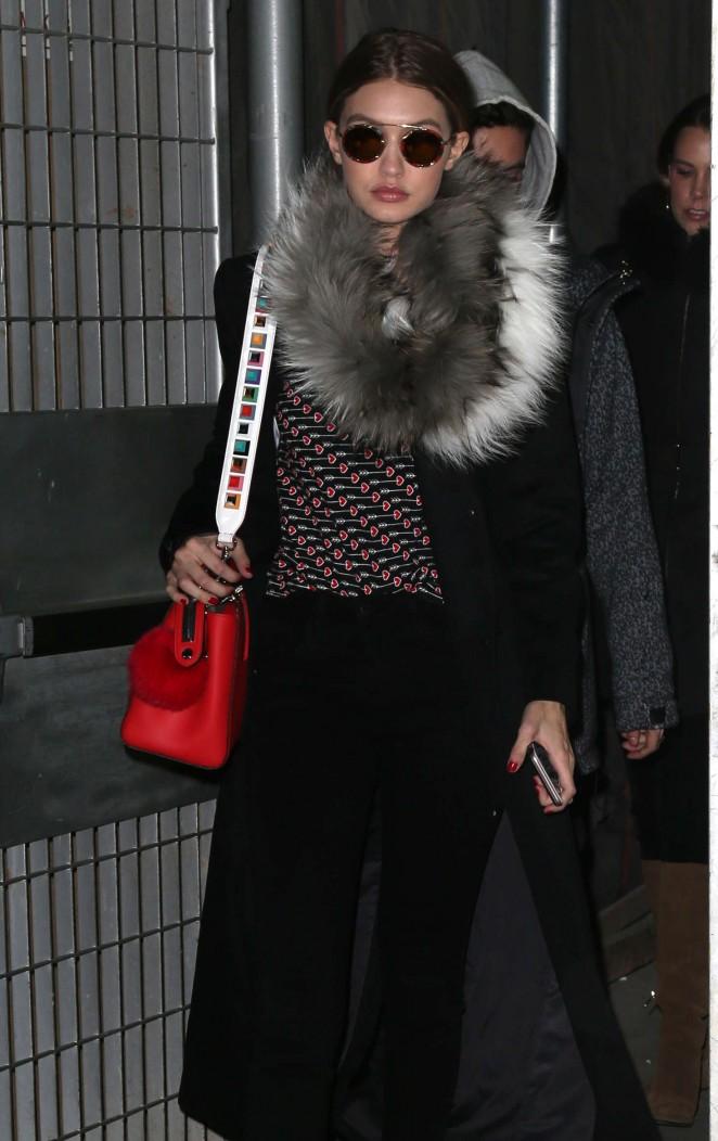 Gigi Hadid at Diane Von Furstenberg Fashion Show in New York