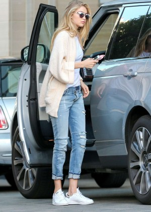 Gigi Hadid in Jeans at Her Hotel in Los Angeles