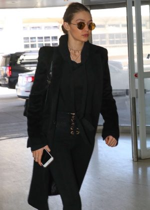 Gigi Hadid at JFK airport in New York