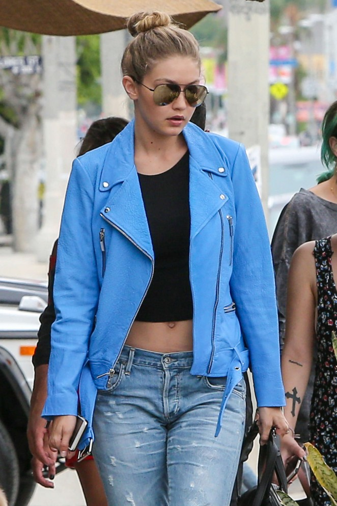Gigi Hadid at Kings Road Cafe in LA