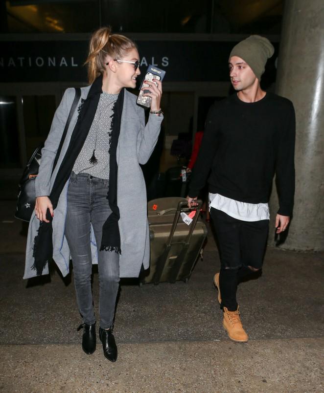 Gigi Hadid at LAX Airport -05