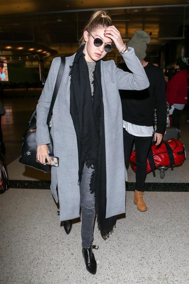 Gigi Hadid at LAX Airport -11