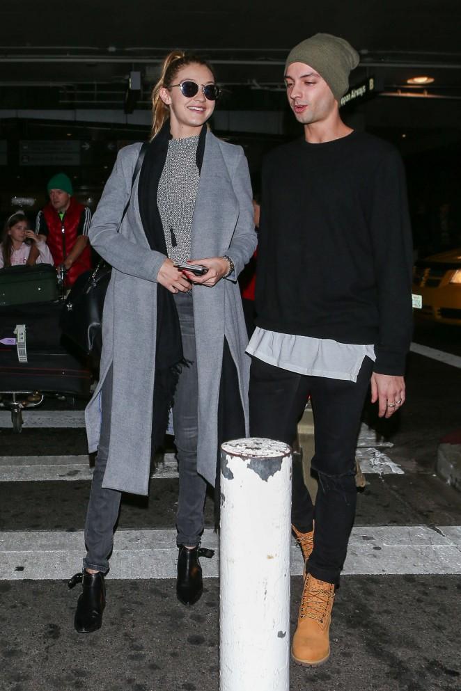Gigi Hadid at LAX Airport -12