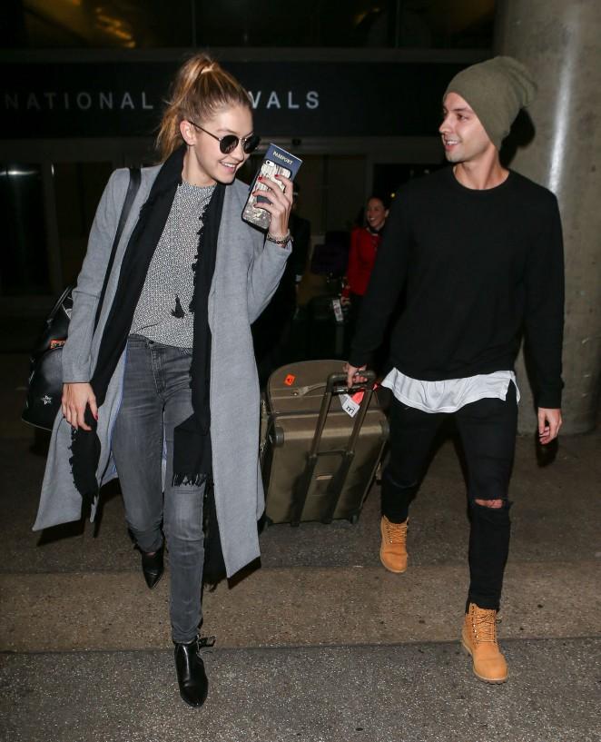 Gigi Hadid at LAX Airport -16