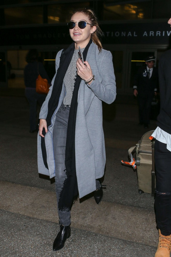 Gigi Hadid at LAX Airport -20