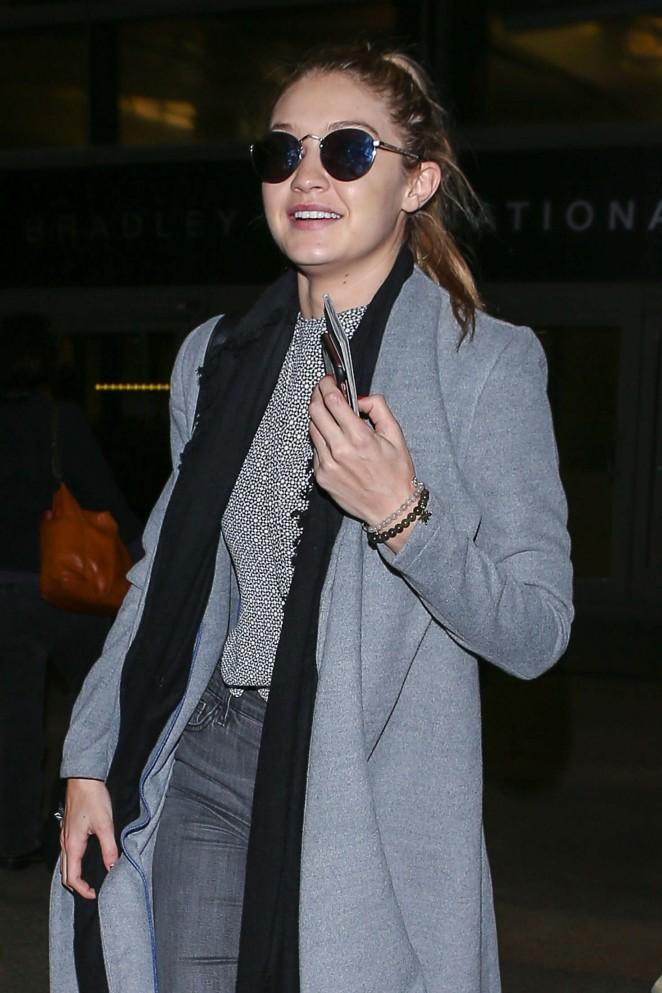 Gigi Hadid at LAX Airport -23