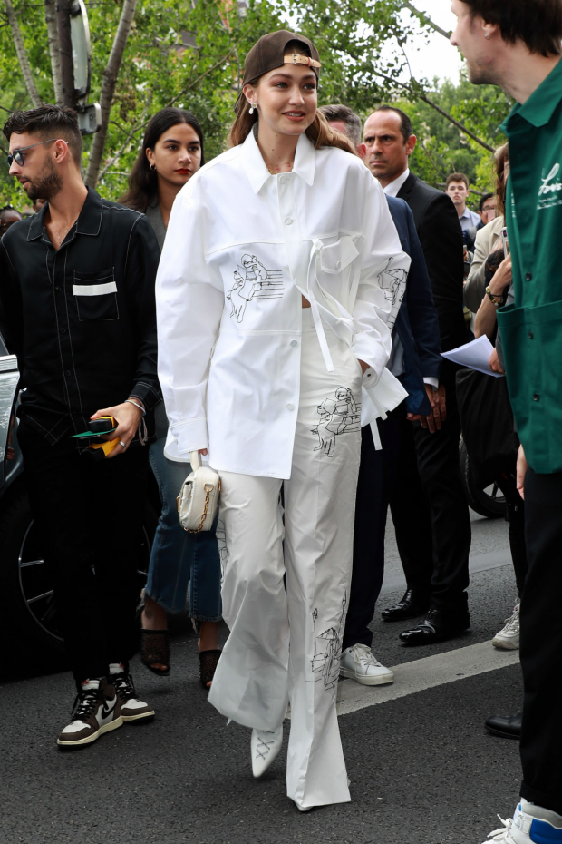 Gigi Hadid - Attends the Louis Vuitton Menswear SS 2020 Show in Paris