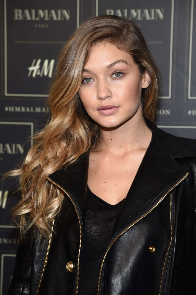 Gigi Hadid - Balmain x H&M Collection Launch in NYC
