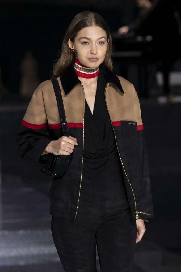 Gigi Hadid - Burberry 2020 Show at London Fashion Week