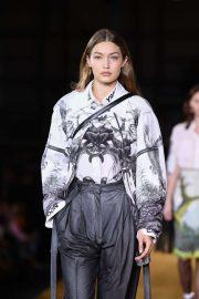 Gigi Hadid - Burberry Runway Show at 2019 London Fashion Week