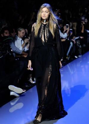 Gigi Hadid: Elie Saab Runway -03