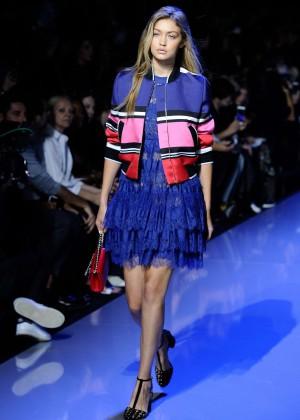Gigi Hadid: Elie Saab Runway -09